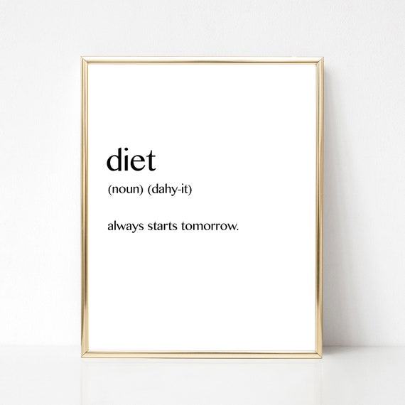 Poster Weights Etsy: Diet Funny Weight Loss Poster Printable Wall Art Diet