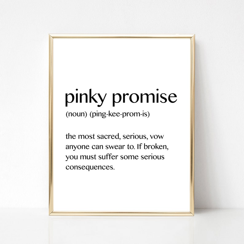 Pinky Promise Best Friend Gift Love And Friendship