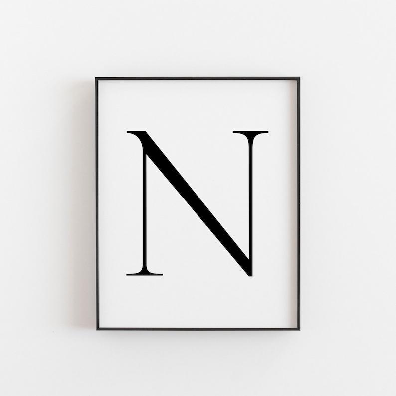 graphic regarding Letter N Printable identified as Letter N, N Printable, Letter Printable, Letter N Poster, Scandinavian Print, Nordic Print, Scandi Layout Print, Minimalist Artwork, Wall Decor