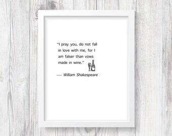 William Shakespeare Print   Wall Quote   Shakespeare Gifts   Shakespeare Digital Print   William Shakespeare Quote   Gift for the Family