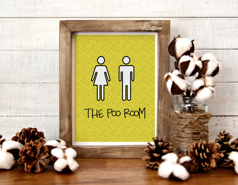 Toilet Sign Toilet Wall Decor Wending Toilet Art Wall Art | Etsy