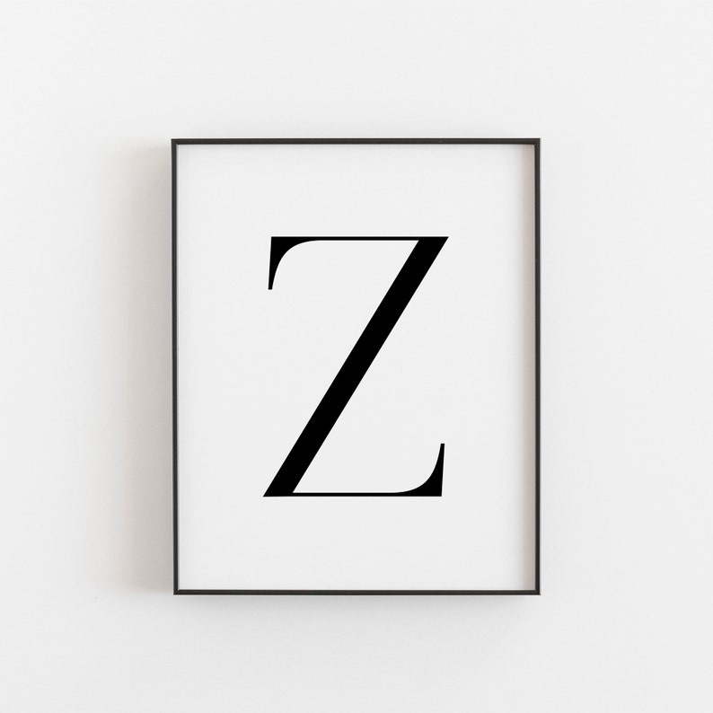 image about Letter Z Printable called Letter Z, Z Printable, Letter Printable, Letter Z Poster, Scandinavian Print, Nordic Print, Scandi Design and style Print, Minimalist Artwork, Wall Decor