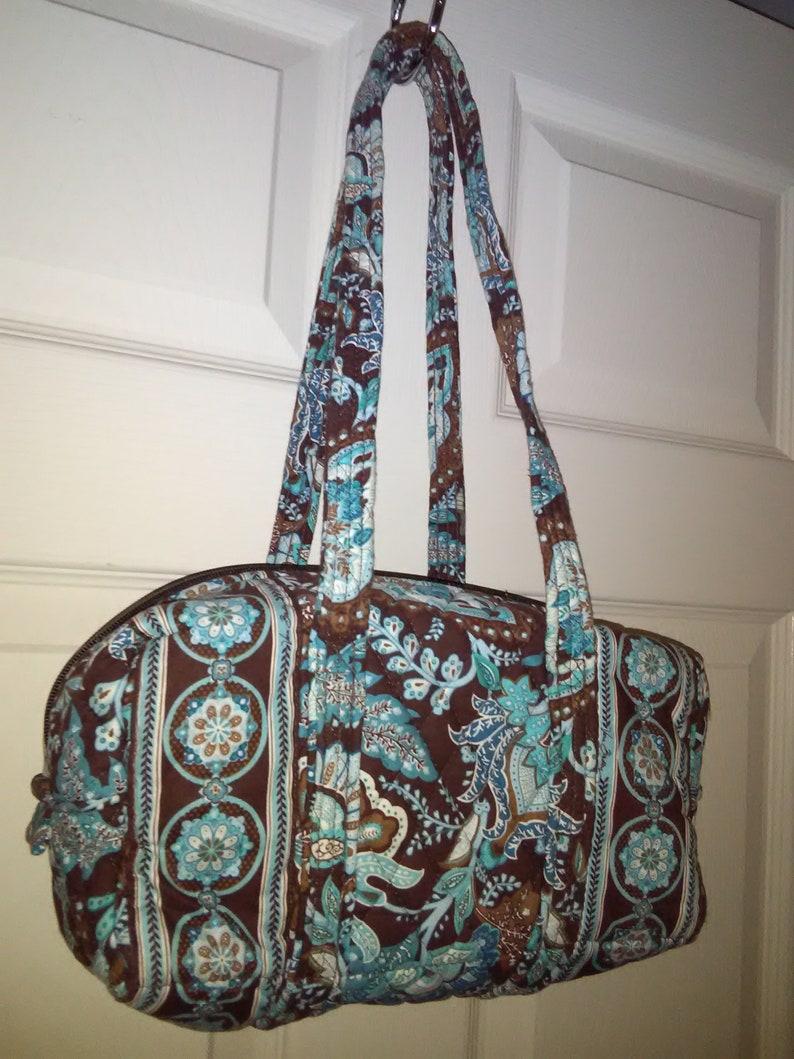 2ede5e7a1 Vera Bradely brown/blue purse.Vera Bradley colorful bag.Vera | Etsy