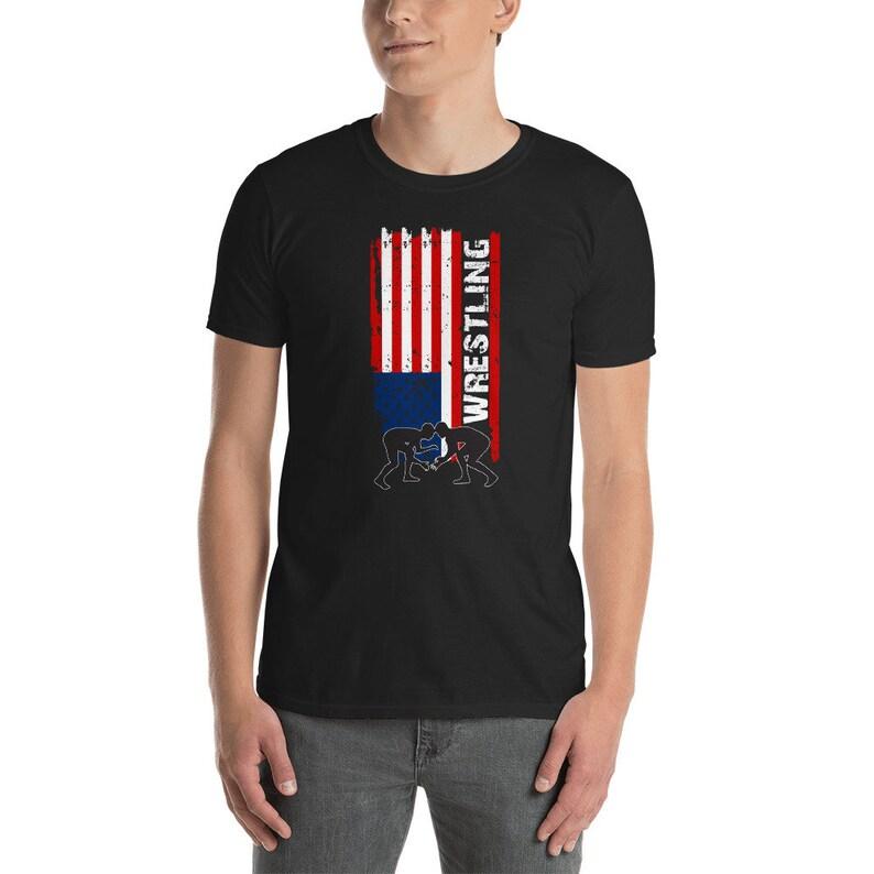 75819f62 American Flag Wrestling Shirt Wrestling Shirt Eat Sleep | Etsy
