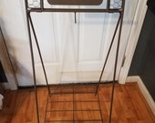 Vintage Metal Welcome Howdy Plant Stand.