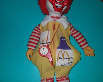 Vintage Ronald McDonald Doll Almost 20 inches tall