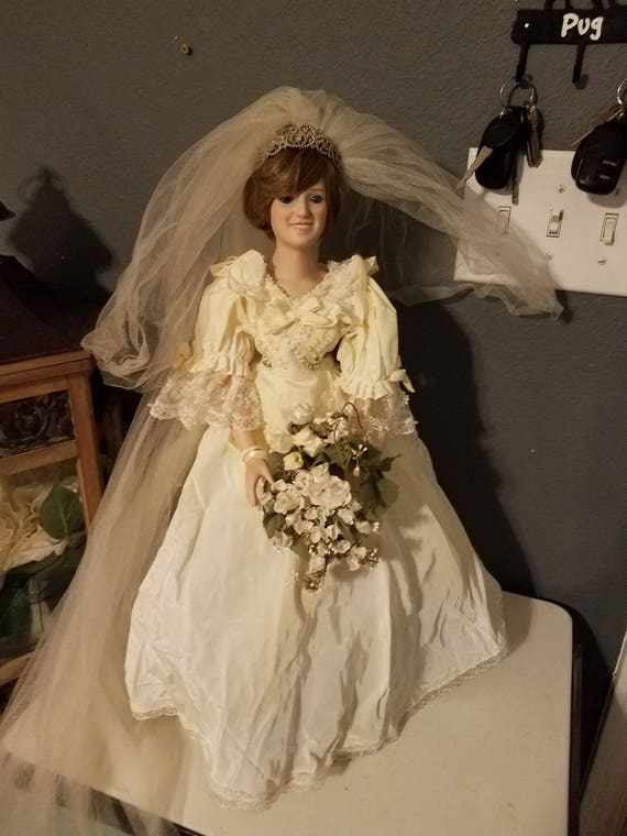 Danbury Mint Princess Diana Doll in Wedding Dress with Long   Etsy