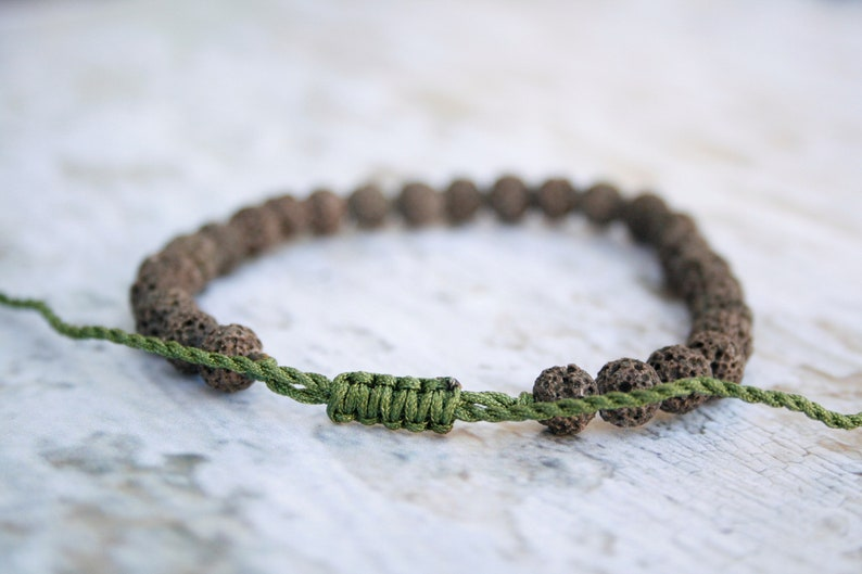 Men Gift Birthday Gift Stackable bangle Men Healing Bracelet Men Bead Bracelet For Him Zen Bracelet Purple  Lava Bracelet Lava 6mm