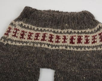 Woolen trousers, woolen pants, hand knitted trousers, natural sheep wool, warm clothes, winter clothes, Christmas gift, hand knitted pants