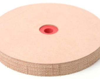 Leather Stropping Wheel in 6, 5, & 3 Inch SizesBuffing Compound Included Pro Sharpening Supplies