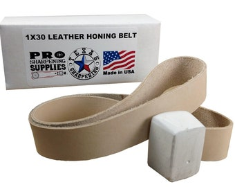 1x30 Leather Honing Strop Belt -Compound Included Pro Sharpening Supplies