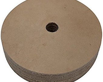 3 in. Leather Honing Polishing Wheel for Mini Bench Grinders w/ 10 mm Arbor, Great for Jewelers & Jewelry makers