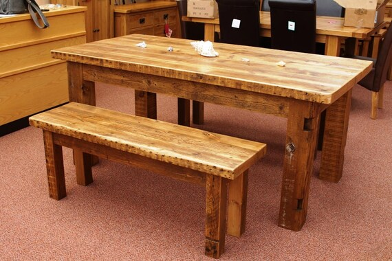 Swell Reclaimed Pine Table And Benches Gmtry Best Dining Table And Chair Ideas Images Gmtryco