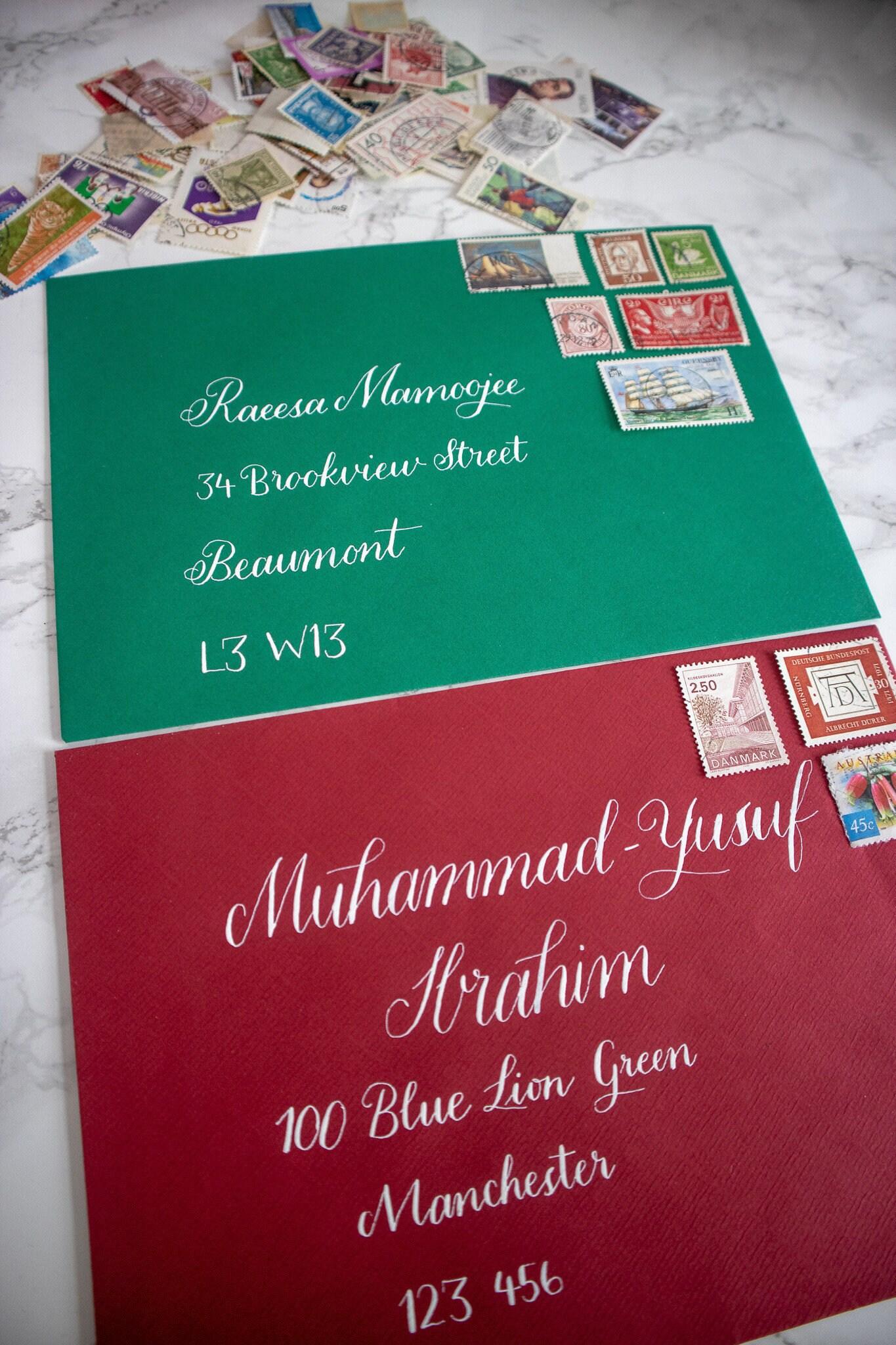 Handwritten Modern Calligraphy Envelopes Addressing