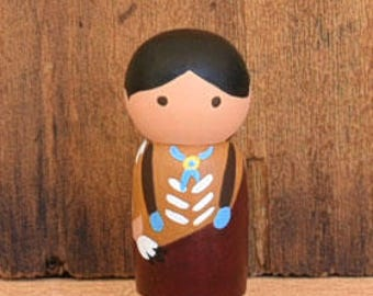 Indian Chief Peg Doll