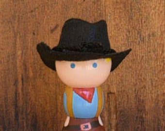 Cowgirl Peg Doll
