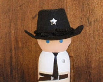 Texas Ranger Peg Doll