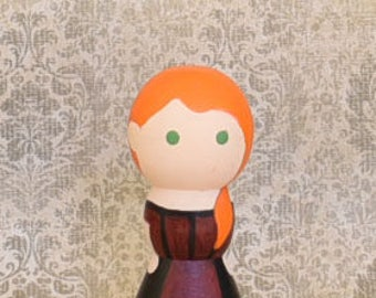 Saloon Girl Peg Doll