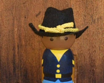 Buffalo Soldier Peg Doll