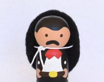 Mexican Mariachi Peg Doll