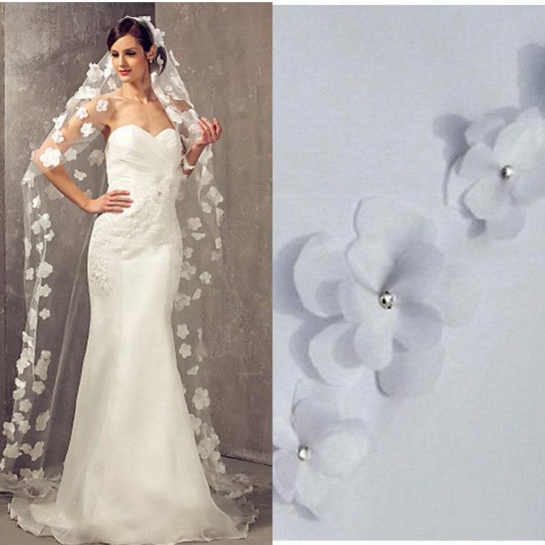 Simsly Wedding Veil Cath/édrale de mari/ée voile avec peigne tulle doux 3m de long pour la mari/ée et les demoiselles dhonneur Ivoire