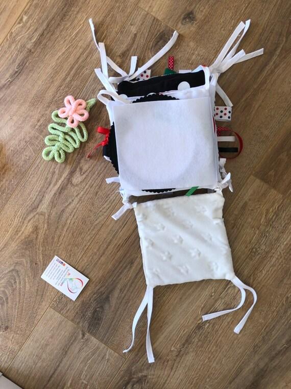 Livre D Eveil Noir Et Blanc Livre Bebe Image Contrastee Vue Bebe Jouet D Eveil Livre Tissu Montessori Cadeau Personnalise
