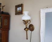 Vintage Wall Sconce, Wall Lamp, Wall White Sconce, Torch Style Lamp, Home Lighting video 360