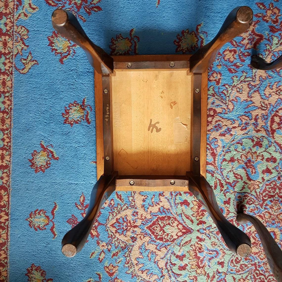 Vintage oak tables set of 3 coffee tables home decor home living room furniture retro nest tables interior design.