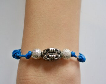 Silver and Blue focus bracelet