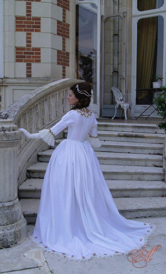18th century inspired wedding dress
