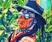 Art Print - Trippin Trader - American Indian Art - Native American Art - Southwest Art - Americana - Wooden Indian