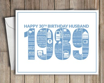 Birthday Card Husband Etsy
