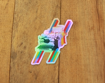 Hologram Typewriter Sticker