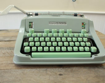 Mint Hermes 3000 Working Typewriter | 1968