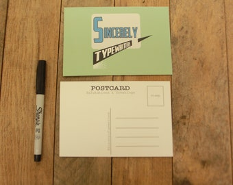 Sincerely Typewriters   Vertex Post Card!