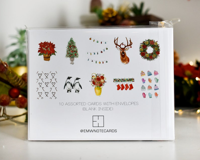 Christmas Card Set with Envelopes