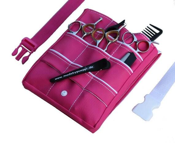 Friseurtasche Kunstleder Pinkweiß Friseur Werkzeugtasche Etsy