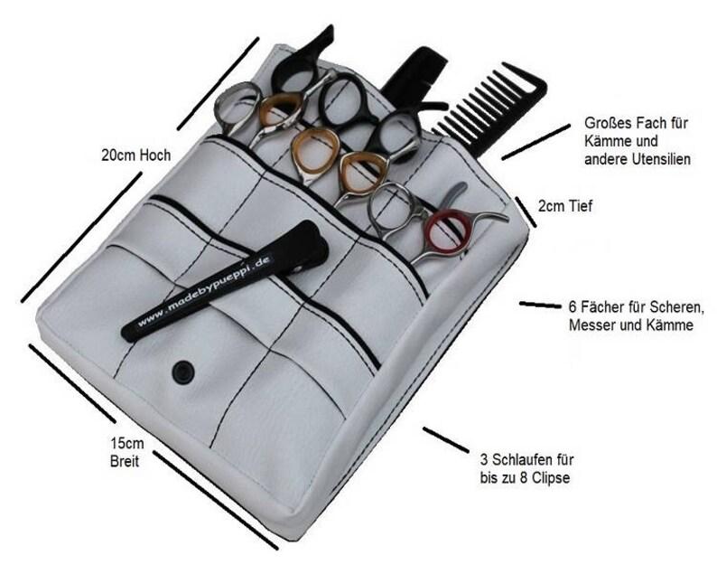 Hairbag Faux leather whiteskull hairdresser/'s bag hairdresser scissor bag hairdressing tool gift For Hairdressers Bag