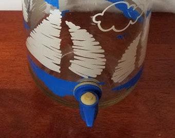 Vintage Anchor Hocking Sailboats Beverage Dispenser