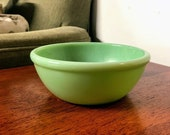 Vintage Fire King Jadeite Restaurant Ware 5 1 2 Beaded Coupe Soup Bowl