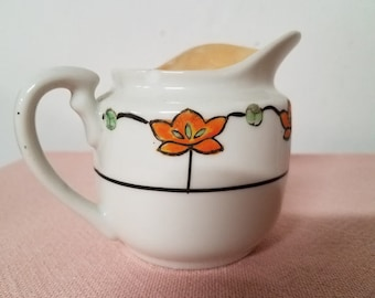 Rare Hand Painted Takito Lustreware Creamer Nippon Made In Japan 1920-1930's