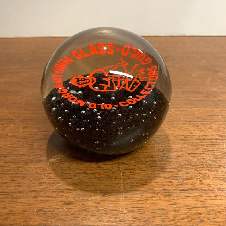 Vintage Old Morgantown Glass Collectors Guild Paperweight 1996