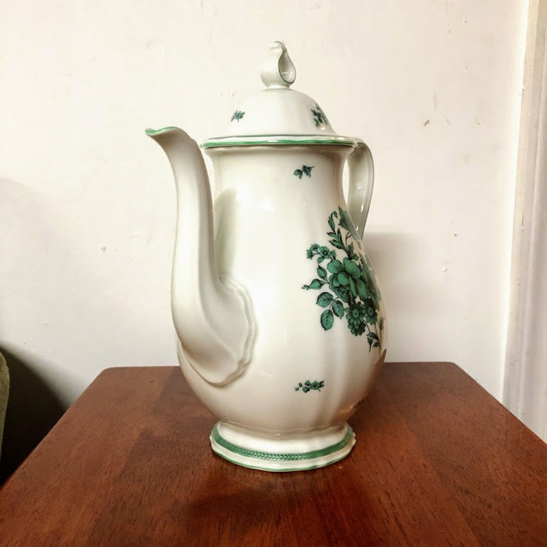 Vintage Rosenthal China Chippendale Green Bloom Coffee Pot