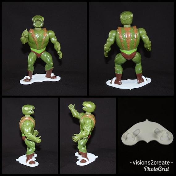 Masters of the universe vintage motu figure stands display toy teela evil lyn
