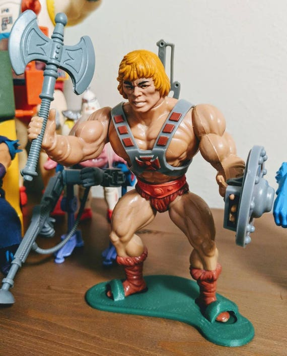 Masters of the Universe vintage MOTU Figure Stand Display Toy He-man CLAWFUL