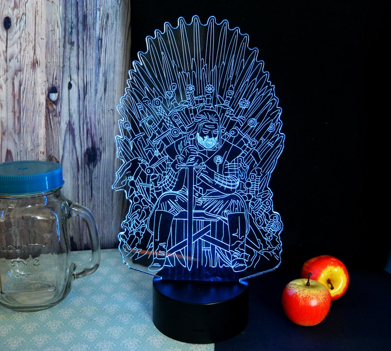 free shipping Game of thrones LED lamp
