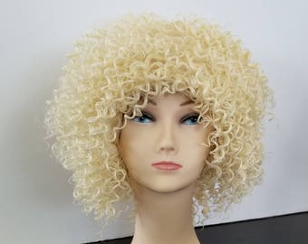 Blond Kinky Curly 100% Japanese Synthetic Wig