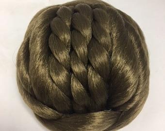 Clip in Synthetic Chignon Twist Braid Bun