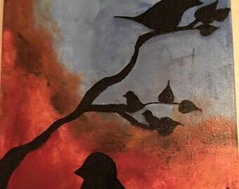 Bird & Tree silhouette