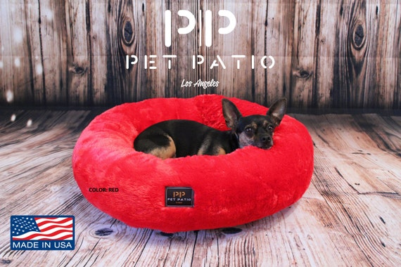 Fine 2 In 1 Easy Wash Round Dog Bed Nest Crate Pet Mat Washable Red Squirreltailoven Fun Painted Chair Ideas Images Squirreltailovenorg